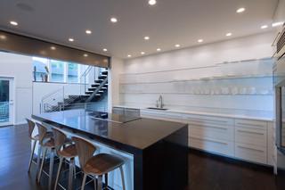 现代简约风格3层别墅乐活米色小吧台装修效果图