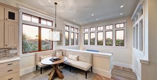 现代简约风格卫生间2层别墅豪华厨房白色橱柜办公室过道设计图纸