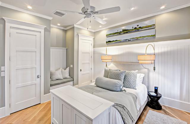 现代简约风格三层小别墅豪华别墅白色门小卧室衣柜床设计图