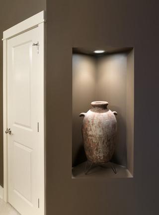 新古典风格2013别墅及艺术家具咖啡色鞋柜玄关隔断装修效果图