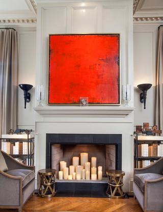 北欧风格三层别墅现代简洁白色家居2014客厅效果图