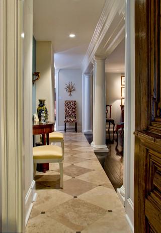 美式风格客厅一层别墅及客厅豪华咖啡色家装走廊设计图