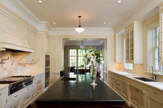 房间欧式风格欧式别墅豪华厨房开放式厨房吧台效果图