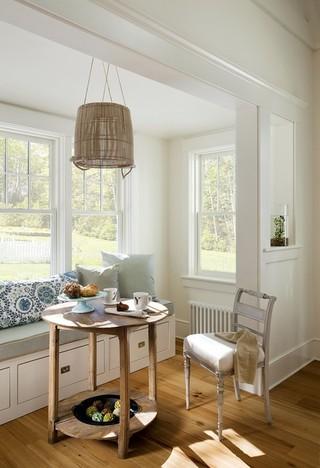 现代美式风格美式别墅唯美白色客厅客厅灯池图片