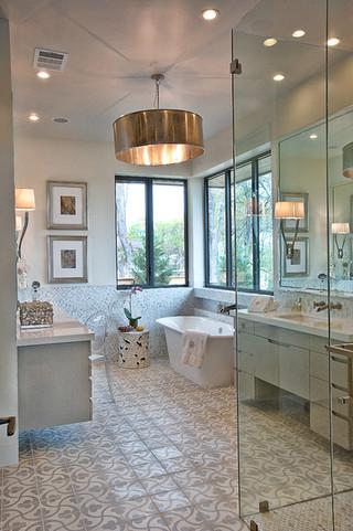 北欧风格卧室美式别墅及浪漫婚房布置卫生间隔断装修