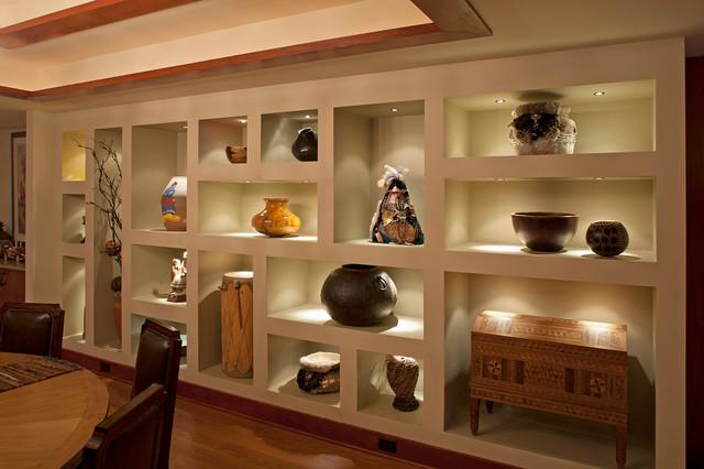 房间欧式风格欧式别墅客厅豪华厨房客厅博古架图片