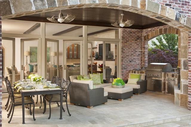 房间欧式风格欧式别墅客厅低调奢华豪华型露台花园装修