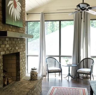 美式乡村风格客厅美式别墅客厅豪华复式楼背景墙装修效果图