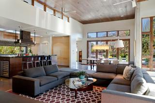 现代简约风格2层别墅实用客厅白色室内设计图