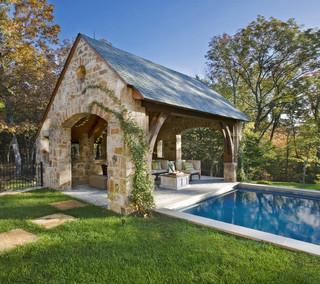 欧式风格家具一层半小别墅实用卧室原木色装修图片