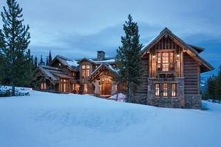 北欧风格客厅三层连体别墅奢华家具原木色装修效果图