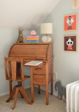 美式风格三居室客厅简洁原木色家居装修效果图