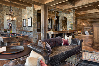 欧式风格客厅三层平顶别墅低调奢华原木色家居2014客厅窗帘装修效果图