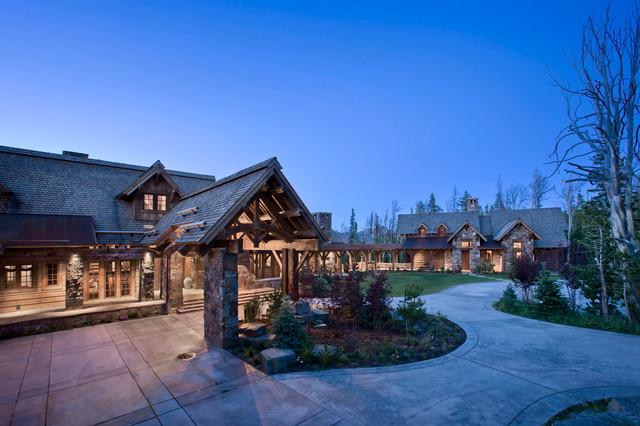 房间欧式风格一层半小别墅奢华原木色效果图