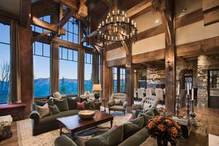 欧式风格家具三层双拼别墅奢华家具原木色家居设计图