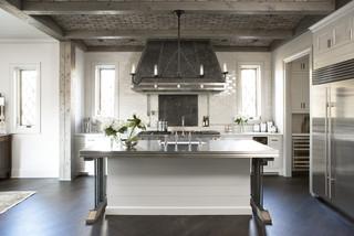 房间欧式风格一层别墅及稳重原木色2014整体厨房装修效果图