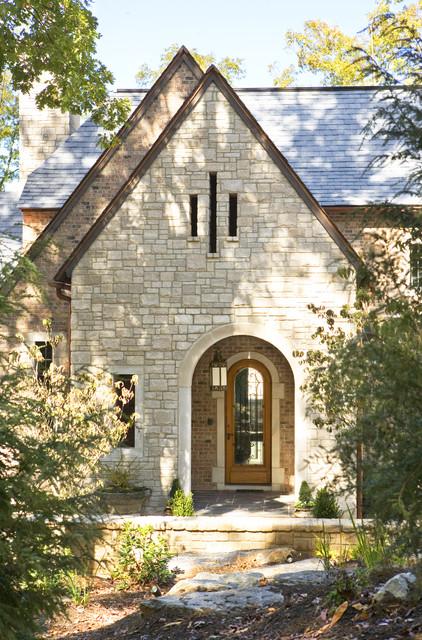 欧式风格三层平顶别墅稳重原木色装修图片高清图片