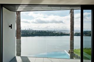 现代简约风格卫生间富裕型140平米以上阳台门套装潢