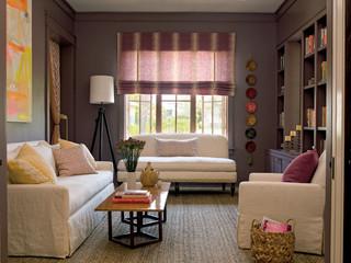 田园风格玄关富裕型140平米以上小客厅影视墙装修