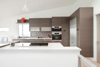 现代简约风格餐厅富裕型140平米以上欧式开放式厨房效果图