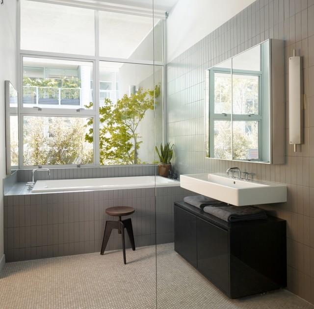简约风格经济型整体卫浴装修效果图
