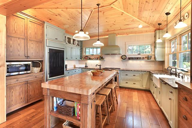 田园风格厨房富裕型140平米以上2013整体厨房改造
