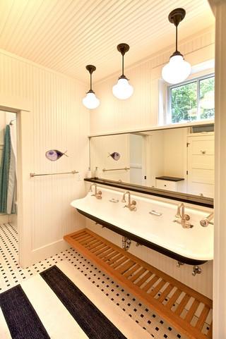 田园风格卫生间富裕型140平米以上厨房卫生间吊顶设计