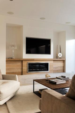 现代简约风格卫生间富裕型140平米以上现代简约电视背景墙设计图