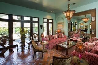 地中海风格室内300平别墅富裕型140平米以上 客厅装修效果图