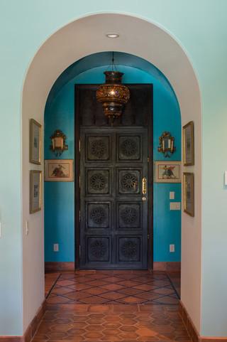 地中海风格室内一层半别墅富裕型140平米以上装修木门效果图