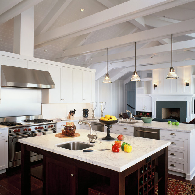 混搭风格客厅度假别墅富裕型140平米以上欧式开放式厨房设计图