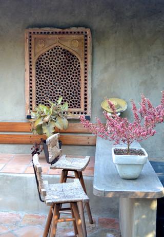 中式风格别墅富裕型140平米以上阳台花园效果图