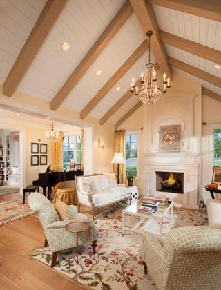 欧式风格客厅三层半别墅豪华型 客厅装修效果图