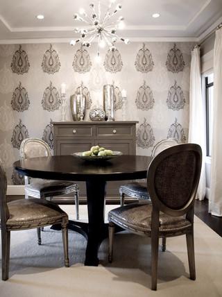 现代欧式风格富裕型140平米以上折叠餐桌图片