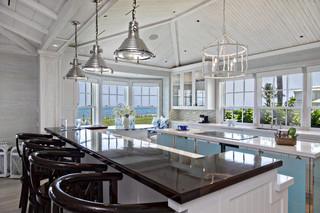 地中海风格家具经济型140平米以上开放式厨房餐厅装修效果图