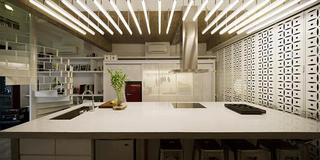 几何与黑白 工业的现代公寓