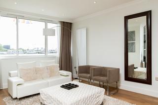 现代简约别墅 咖啡与白的经典搭配