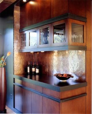 原木色欧式客厅及开放式厨房装修
