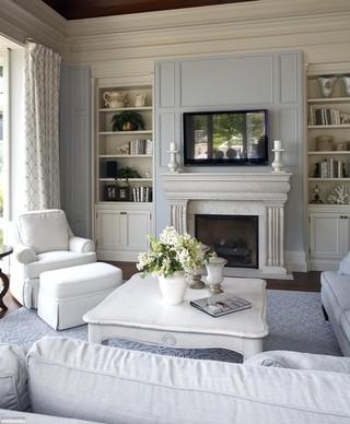 欧式别墅白色系客厅厨房装修赏析