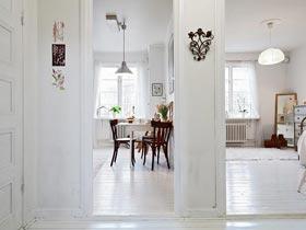 充滿家庭感的明亮簡約一室小公寓