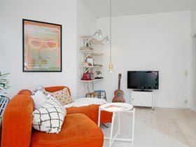 第一眼就会爱上它——瑞典多彩小户型公寓