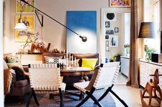 斯德哥尔摩不拘一格的混搭多彩公寓