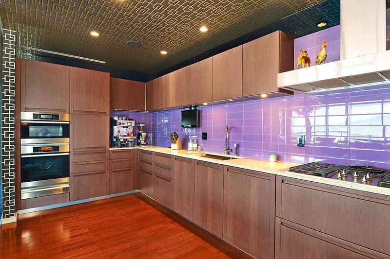 混搭风格公寓舒适原木色豪华型整体厨房效果图