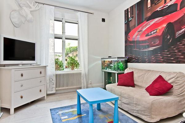 95平方米北歐簡約風格舒適公寓