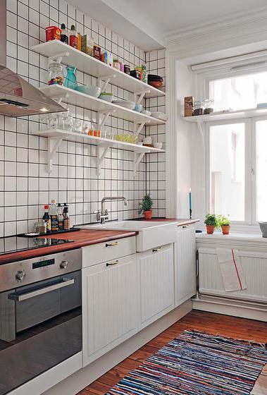 北欧风格一室一厅温馨整体厨房旧房改造家装图片