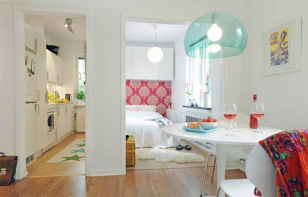 北欧清新风小户型公寓_齐家网装修效果图图片