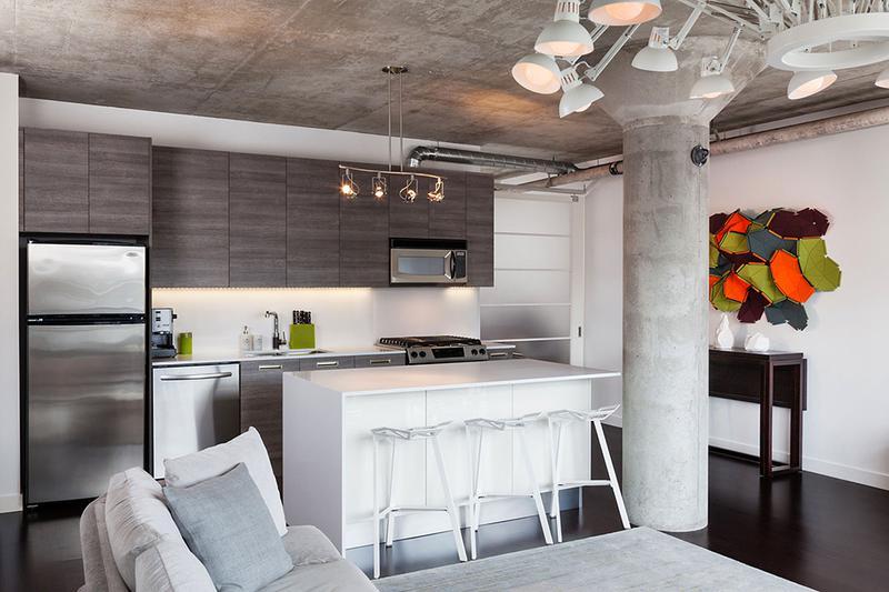 loft风格公寓简洁餐厅改造