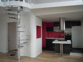 法国巴黎现代简约复式公寓