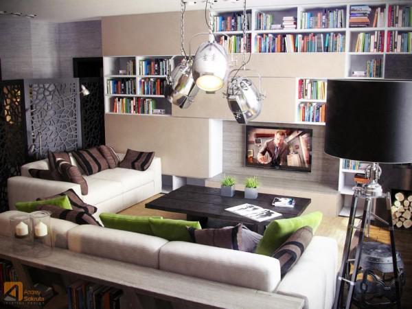现代简约风格公寓室内设计效果图