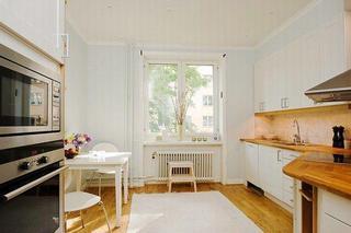 北欧风格简洁白色整体厨房设计图